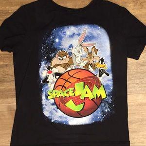Sz L Boys Space Jam Looney Toons T-shirt